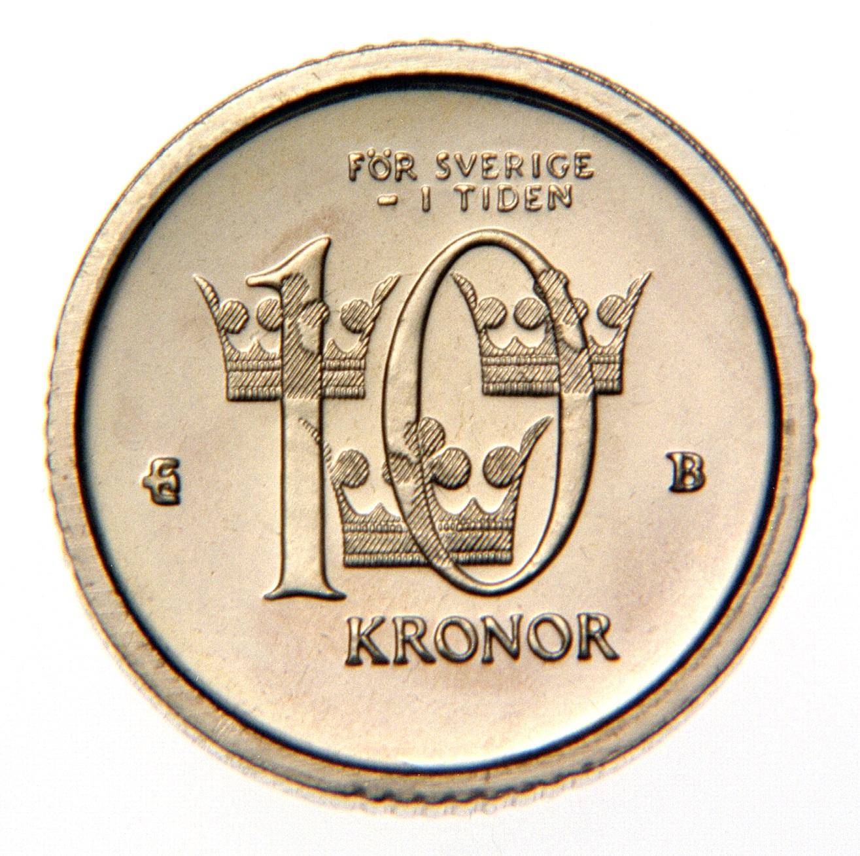 Valörsidan på tiokronan år 2001